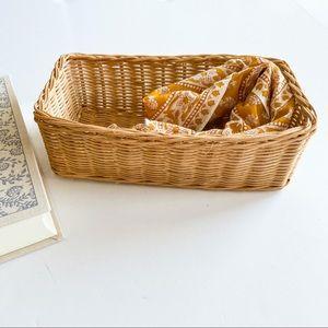 Other - Rectangular wicker basket boho